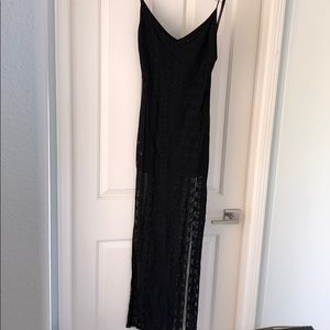 For love and lemons long  black dress with slits